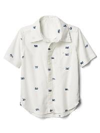 Gap Boombox Short Sleeve Shirt - Off white