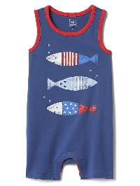 Gap Americana Fish Tank Shorty One Piece - Docksider blue