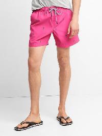 "Gap Print Drawcord Swim Trunks (5"") - Hot pink"
