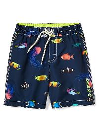 Gap Sea Life Swim Trunks - Elysian blue