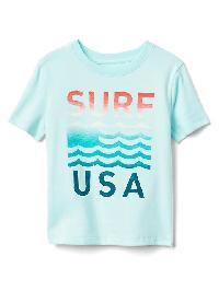 Gap Graphic Short Sleeve Tee - Blue tint