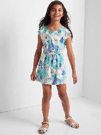 Gap Print Cap Dress - Turquoise print