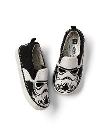 Babygap &#124 Star Wars Slip On Sneakers - Storm trooper