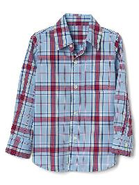 Gap Americana Plaid Long Sleeve Shirt - Blue focus