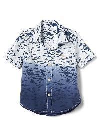 Gap Shark Poplin Short Sleeve Shirt - White