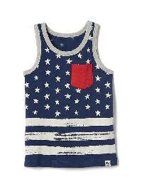 Gap Americana Slub Tank - Elysian blue