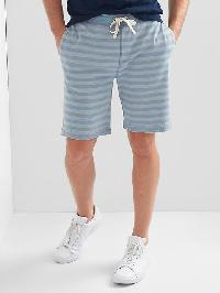 "Gap Indigo Stripe Drawstring Shorts (9"") - Light indigo"