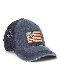 Gap Mesh Patch Baseball Hat - Indigo