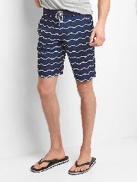 "Gap Wave Stripe Boardshorts (9"") - Waves"
