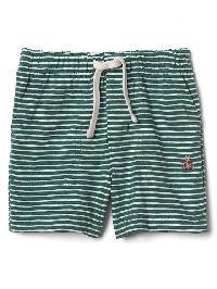 Gap Stripe Pull On Shorts - Green stripe