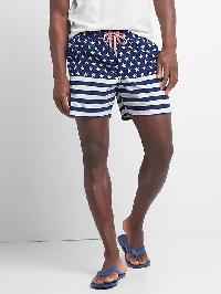 "Gap Americana Swim Trunks (5.5"") - American flag"