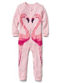 Gap Flamingo Zip Sleep One Piece - Pink