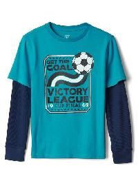 Gap Graphic 2 In 1 Tee - River teal