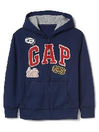 Gap Weekend Logo Zip Hoodie - Elysian blue