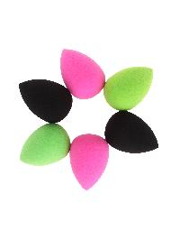 3 Color Water Drop Sponge Puff 6pcs