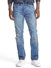 Gap Original 1969 Destructed Vintage Slim Fit Jeans - Medium vintage