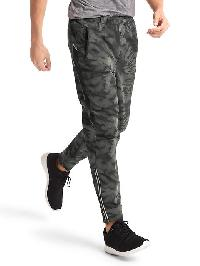 Gap Reflective Stretch Tapered Pants - Black camo