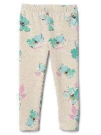 Gap Floral Soft Terry Leggings. - Oatmeal floral