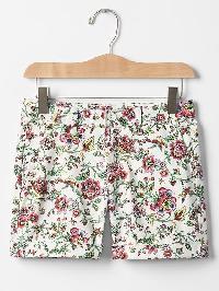 Gap Print Midi Shorts - White