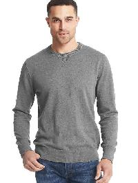 Gap Cotton Crewneck Sweater - Dark gray