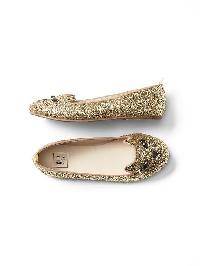 Gap Glitter Cat Ballet Flats - Champagne