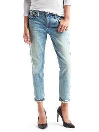 Gap Authentic 1969 Best Girlfriend Metallic Stitch Jeans - Light indigo