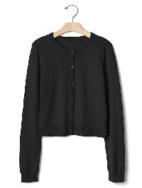 Gap Button Cardigan - True black