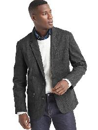 Gap Herringbone Blazer - Charcoal