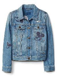 Gapkids &#124 Disney Mickey Mouse Embroidered Denim Jacket - Indigo
