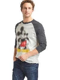 Gap &#124 Disney Mickey Mouse Graphic Baseball Tee - New off white