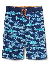 Gap Sea Life Swim Trunks - Deep cobalt