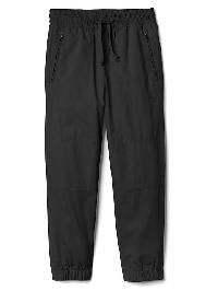 Gap Zip Pocket Poplin Joggers - Moonless night