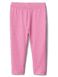 Gap Print Stretch Jersey Capris - Neon light pink