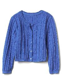 Gap Ribbed Crew Cardigan - Belle blue