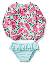 Gap Watermelon Rashguard Two Piece - Watermelon