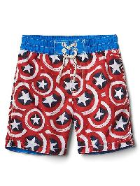 Babygap &#124 Marvel Captain America Swim Trunks - Pepper red