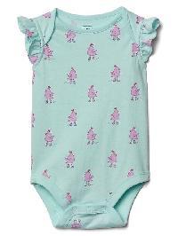 Gap Print Flutter Bodysuit - Ballerina blue