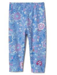 Gap Floral Stretch Jersey Leggings - Moore blue