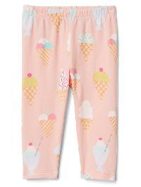 Gap Print Stretch Jersey Leggings - Ice cream