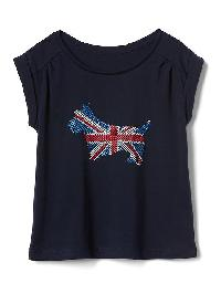 Gap Americana Short Sleeve Shirred Tee - Uk