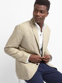 Gap Cotton Linen Blazer - Off white