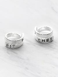 Letter Pattern Wrap Around Ring Pack 2pcs
