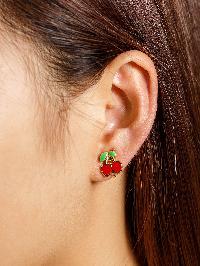 Cherry Shaped Ear Cuff 1pcs