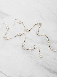 Crystal Chain Drop Earrings