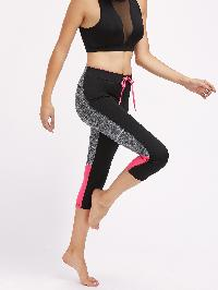 Active Marled Knit Panel Leggings