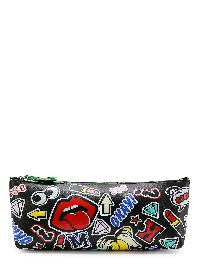 Mixed Pattern PU Pouch Bag