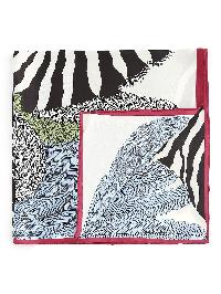 Zebra Print Satin Bandana
