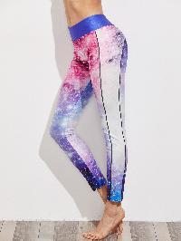 Active Galaxy Print Leggings