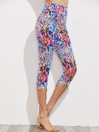 Active Abstract Print Capri Leggings