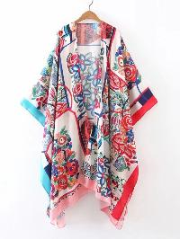 Open Front Asymmetrical Kimono